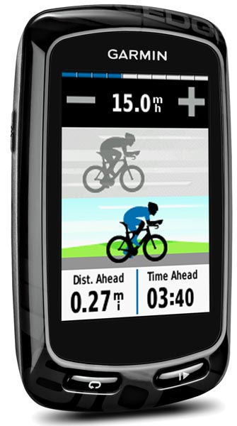 The Garmin Edge 510, 810 and 1000 let you compete against virtual competitors, and keeps you updated on your progress