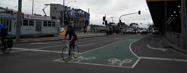 Melbourne has impressive cycling infrastructure