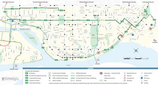 New Westminster Bike Map Average Joe Cyclist
