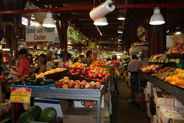 The Public Market at Granville Island is bursting with delicious things to buy