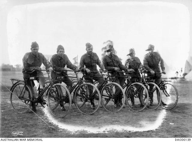 Australian Cycling Corps c 1915 Broadmeadows, Victoria Australian Cycling Corps c 1915 Broadmeadows, Victoria