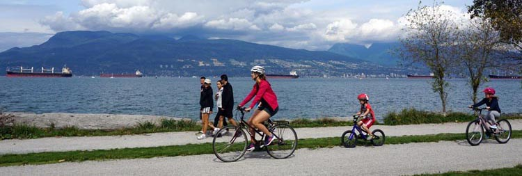Vancouver Cycling - Great Bike Rides in and Near Vancouver, Canada. If you are lucky enough to do your bike rides somewhere beautiful, so much the better! This is the Seaside Bike Route in Vancouver