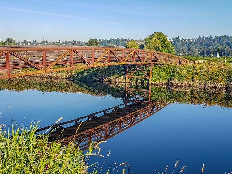 Enjoy views of the Pitt River and the Coquitlam River while riding the Poco Trail. Photo courtesy of Alan Wallis