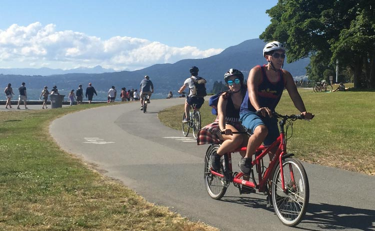 Most of the Seaside Bike route just offers fun cycling for all