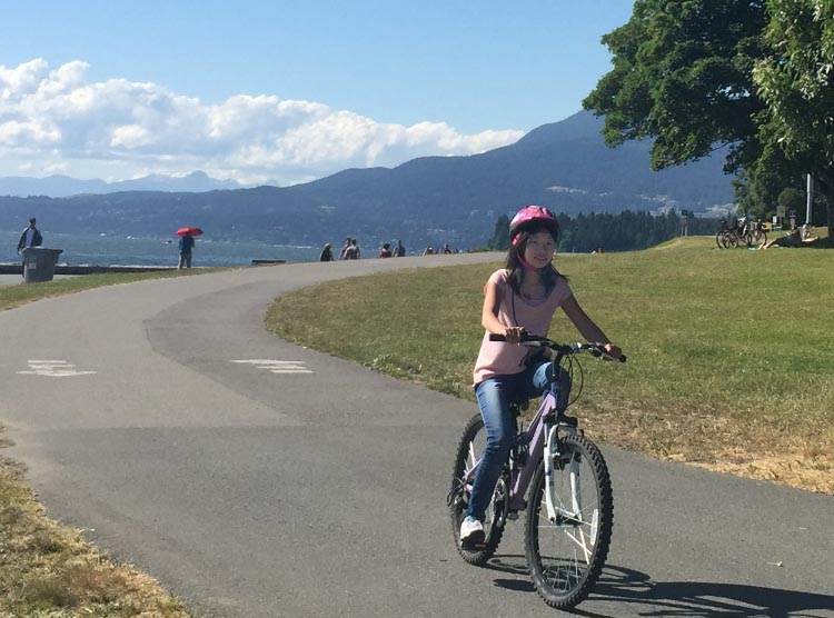 Most of the Seaside Bike route is AAA - suitable for all ages and abilities