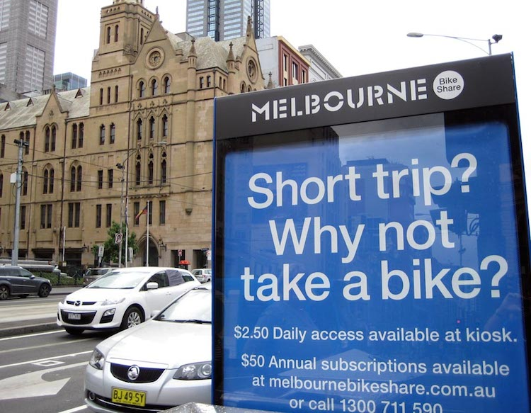 Explore cities on a bike! The beautiful city of Melbourne, Australia, is one of the many cities that now offers bike share systems - 5 Reasons to Take Up Cycling During Retirement