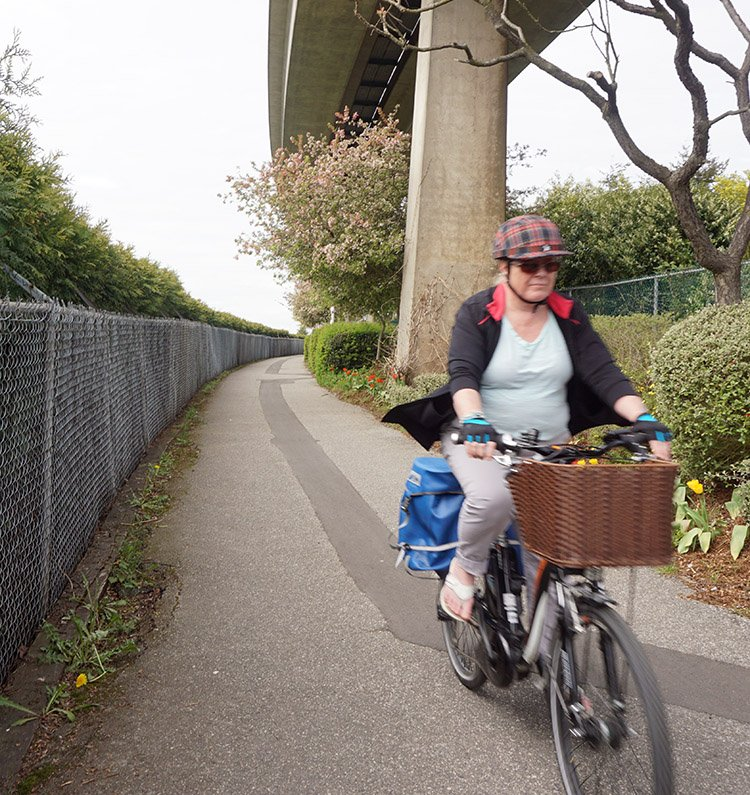 Long segments of the BC Parkway are off-road. However, due to the Kilimanjaro-like geography of New Westminster, these segments are mainly uphill. New Westminter cycling