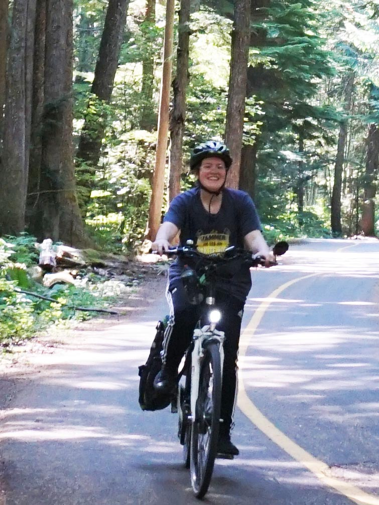 Kids can ride to each others' houses without going on the highway at all, thanks to the Whistler Valley Trail