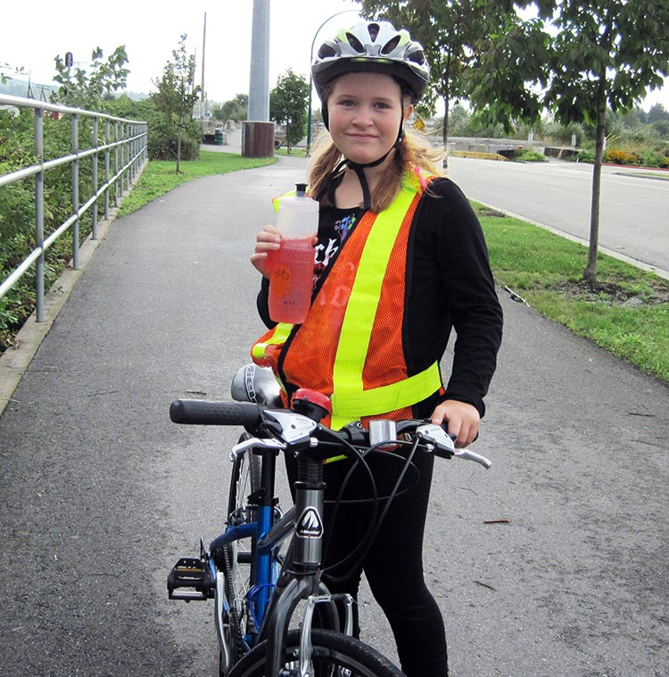 When our youngest was 10, Joe started biking to school with her to teach her basic skills and safety rules. How to Help your Kids Bike to School