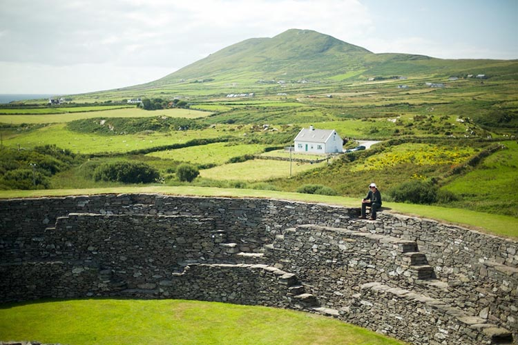 This is Fort Valentia Island, a unique place to visit while cycling in Ireland