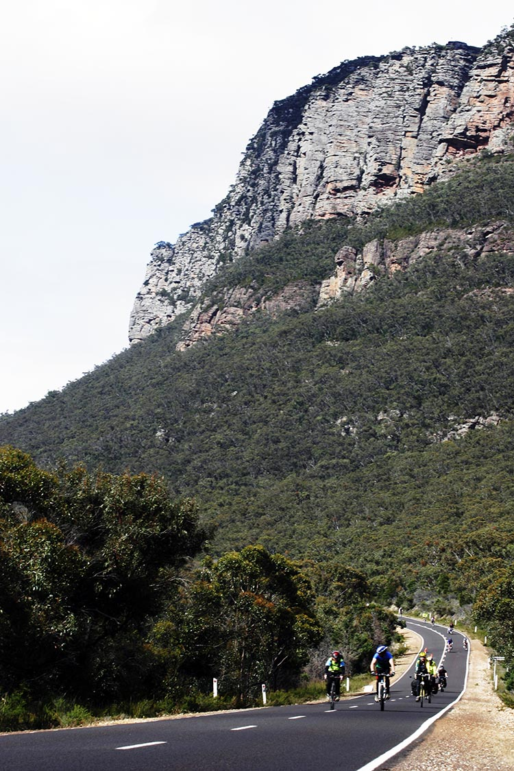 Be prepared to be awed by nature when you join the RACV Great Victorian Bike Ride - including cycling under the Grampians, a series of rugged sandstone mountain ranges and forests.