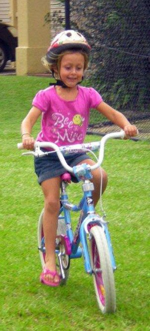 Almost all kids love to ride bikes, once you get them started!
