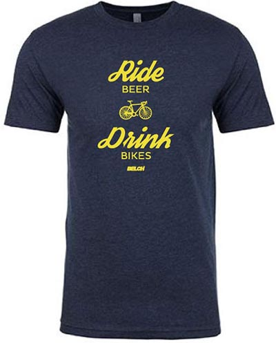 Another fun BELCH shirt that reminds us it is possible to have more than one love - in this case, bikes and beer!