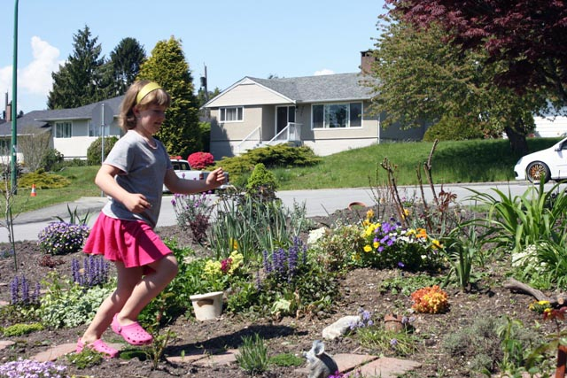 Get your kids out in the garden. They may not be much actual help, but they will almost certainly have fun and get some exercise. It beats sitting inside in front of a computer!