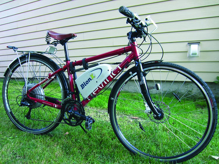 Devinci Bikes in Canada makes excellent hybrid bikes. This is a Devinci Sidney with a BionX electric kit retrofitted onto it. An electric bike kit allows you to convert your regular bike into an electric bike. You can read a review of this excellent BionX electric bike conversion kit here. How to Choose the Right Type of Bike - Beginner's Guide