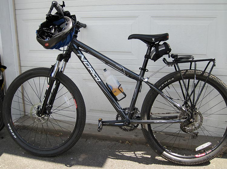 This is my Norco Storm mountain bike, which I bought new. Read a full review here. How to buy used bikes online