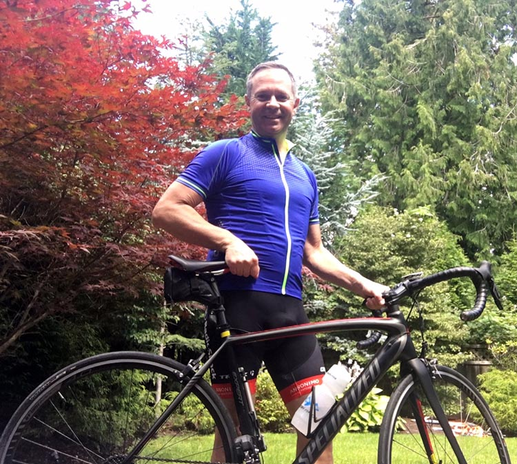Jody Kalo counters the stress of his job with cycling, and has done some significant bike rides over the past few years. The Whistler GranFondo will be his biggest challenge yet!