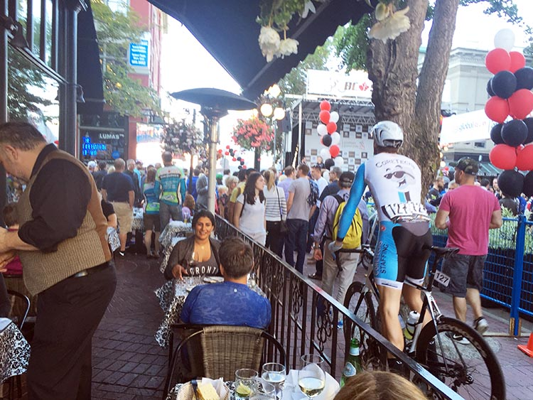 The Gastown Grand Prix is a great event to find a restaurant for dinner, while watching the race from a patio or on the big screen. The Water Street Café has a patio right at the start line. BC Superweek 2017