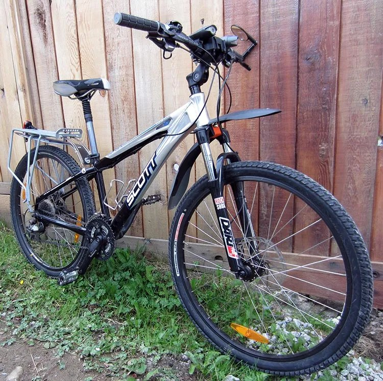 Guide to Bike Terms. Are you buying a new or used bike, and confused by all the bike terms ? Our guide to bike terms will empower you when shopping for a bike. This was my Scott Aspect mountain bike. It is a typical hard tail bike - suspension in the front, but not in the back
