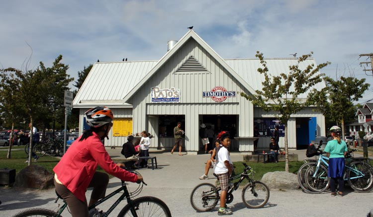 Pajo's Fish and Chips is an institution in Steveston. It's a great stop when you are cycling along the West Dyke Trail