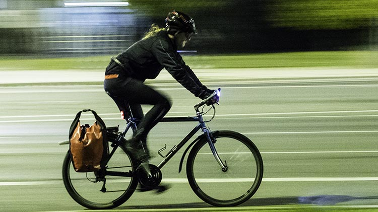 When to Use Flashing Bike Lights. When people see a flashing light at night, it is hard for them to judge how far away it is, and how fast it is moving. This means that a motorist may misjudge where you are, and that is NOT good
