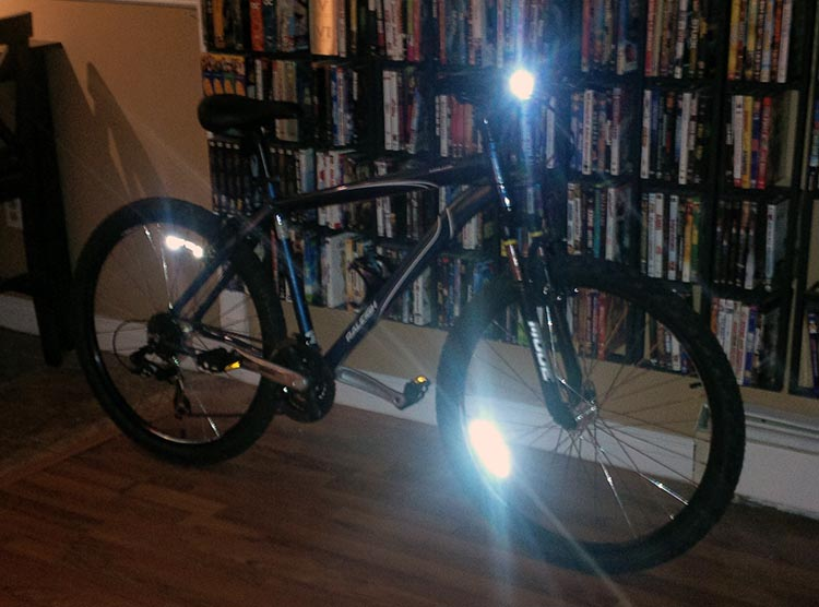 Bike reflectors make a bike visible from all sides
