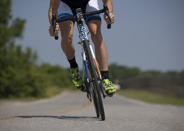 Try to find some flat terrain when you start your bike training