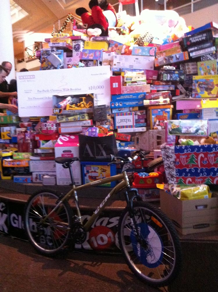 Bike donated at a previous Annual Pan Pacific Christmas Wish Breakfast in Vancouver