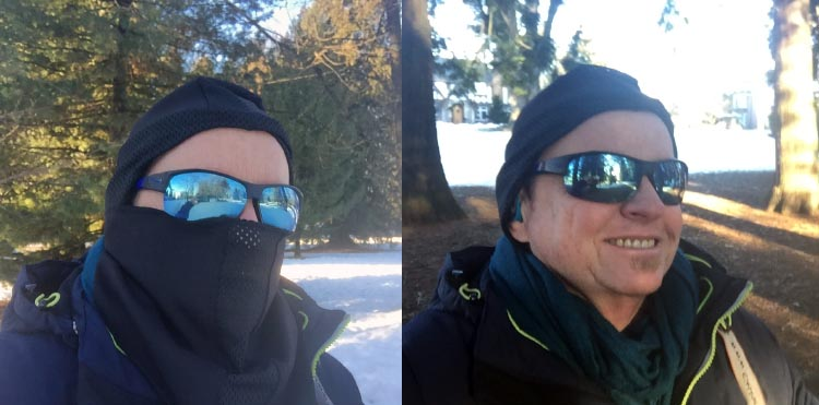 7 of the Best Cycling Balaclavas and Winter balaclavas – How to Choose the Best Balaclava. The Weatherneck system balaclava can be used in many different configurations, making it ideal for cycling as you can just strip it down as you warm up. On this occasion I was using it for hiking in the snow, and I liked that I could remove the lower half once I warmed up