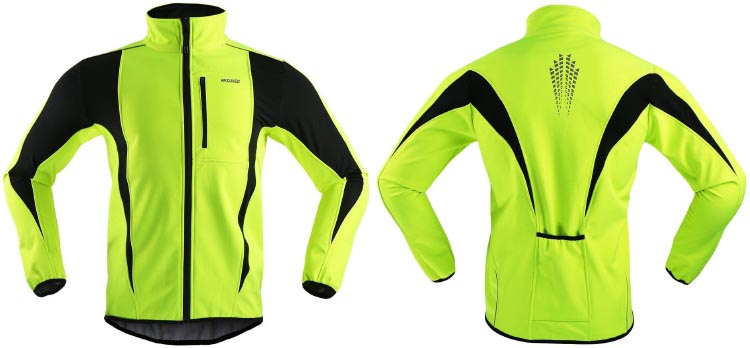 ARSUXEO Winter Warm UP Thermal Softshell Cycling Jacket