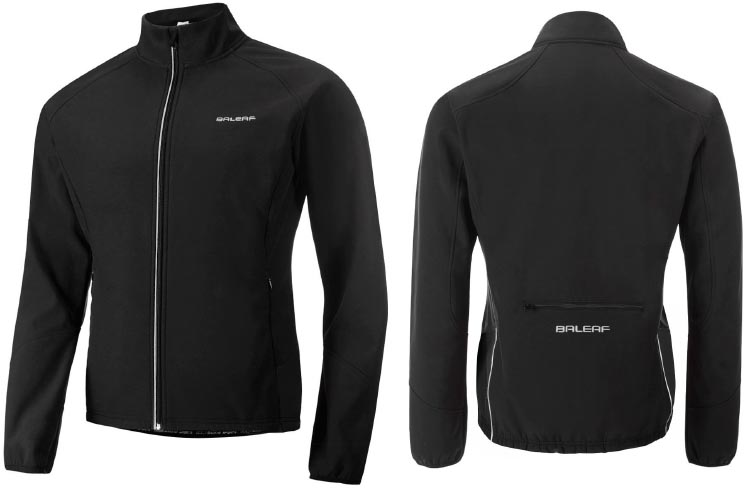 Baleaf Men's Windproof Thermal Softshell Cycling Jacket