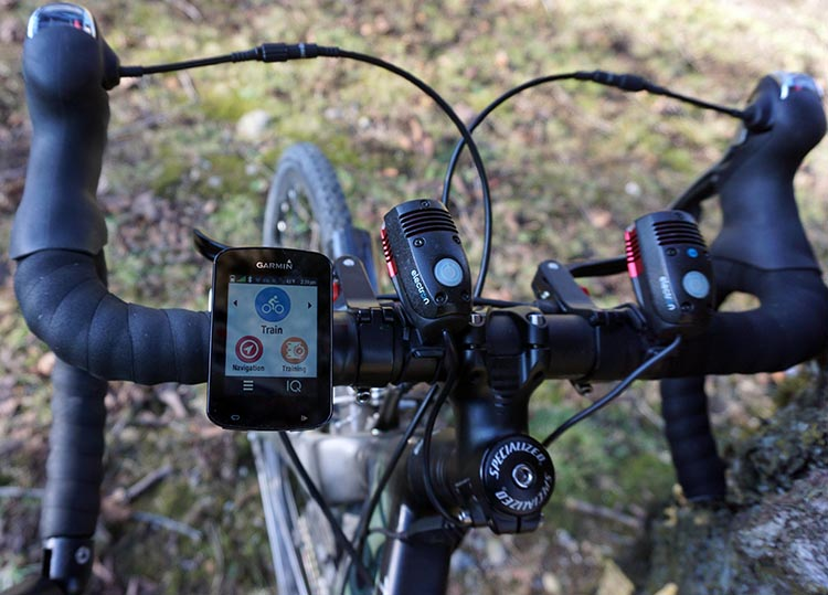 Here is my Garmin Edge 820 on my handlebars. It is slim, small, and very good looking. It does not take up much space on the handlebars, and best of all, it is easy to see the display