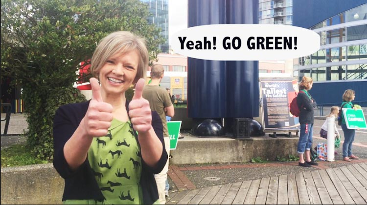 Jonina Campbell, Green Party candidate in New Westminster