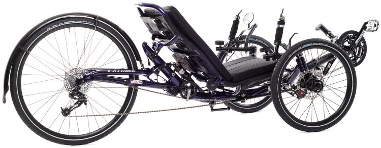 Catrike offers many other models, including some with full suspension for added comfort (the Dumont and Road AR). This is the Catrike Dumont. Catrike 700 Performance Recumbent Trike Review