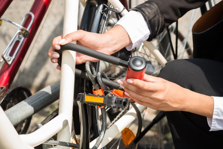 Two locks are better than one! Protect your bike from bike thieves while you work