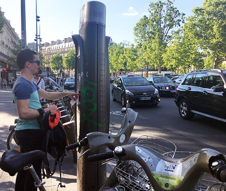 When you first check out a Velib bike, have your numbers ready, and follow instructions carefully. How to Use a Velib Bike in Paris