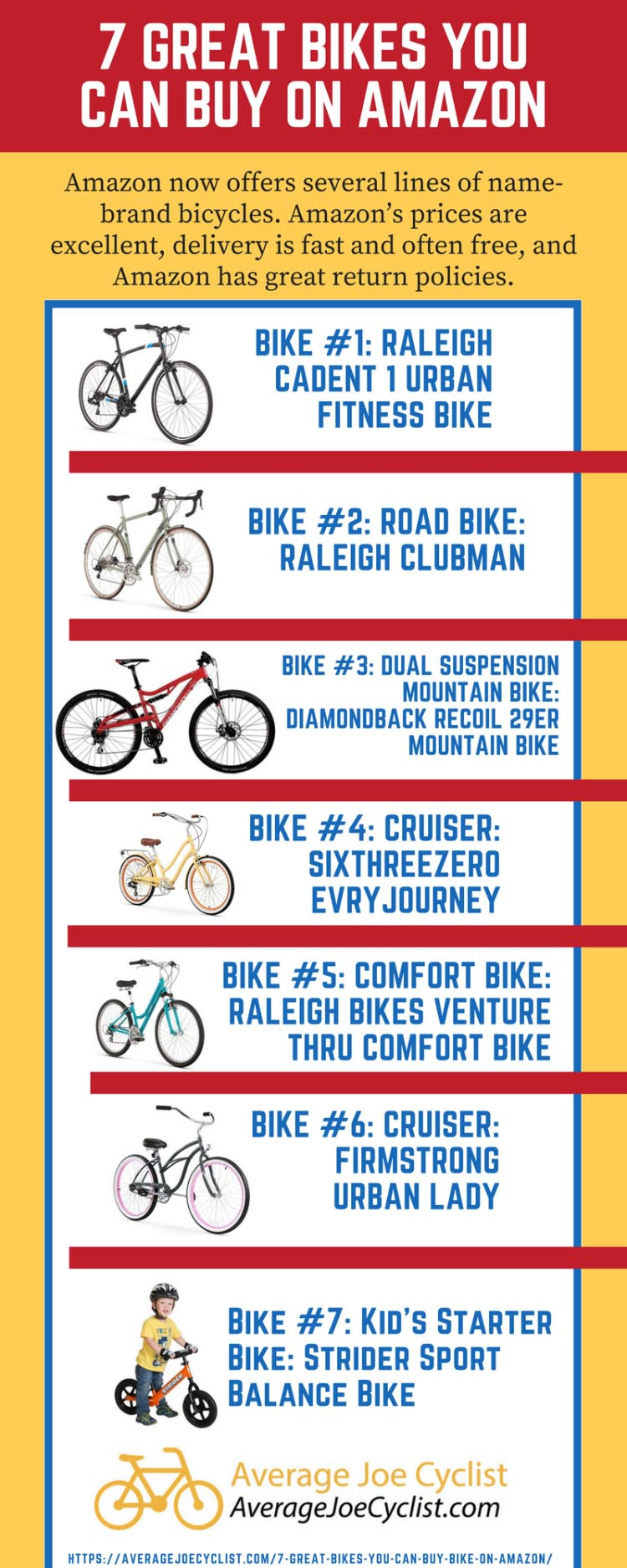7 great bikes you can buy on Amazon