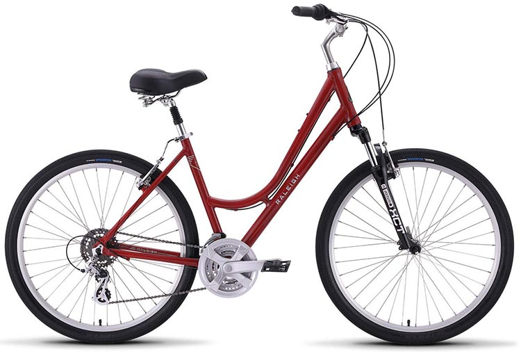 This is the Step-Thru version of the bike - ideal for easy mounting, or for riding bikes while wearing a dress