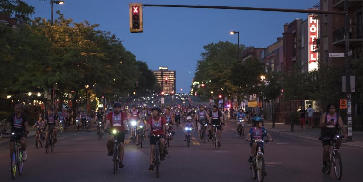 Do not miss this fun event in Vancouver BC! Thousands of bike riders will join HUB Cycling at the second annual Bike the Night Ride on September 16th. City streets will be opened up for a night of music, lights and decorated bikes.