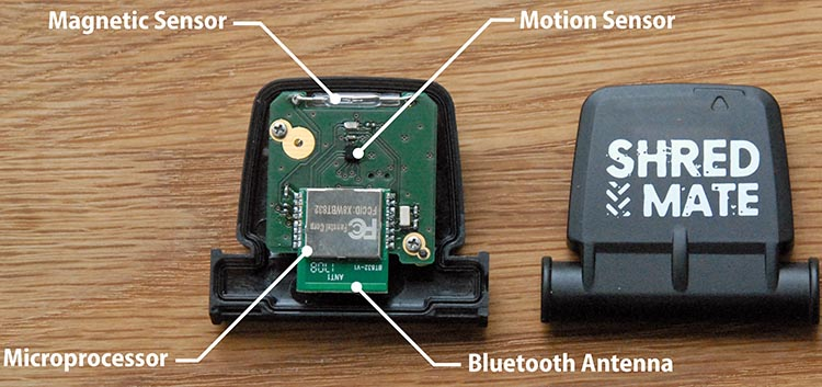 By combining a motion sensor and algorithms, ShredMate gives you exciting new information about your mountain bike riding