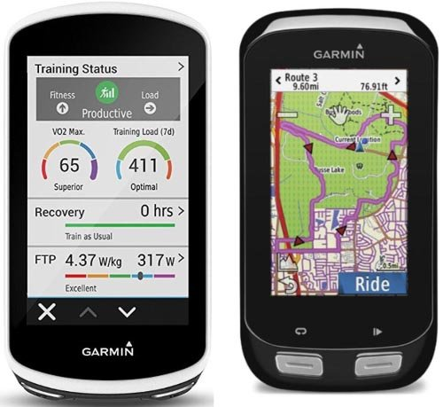 It's a Perfect Time to Buy a Garmin Edge 1000! Garmin Edge 1030 on the left; Garmin Edge 1000 on the right