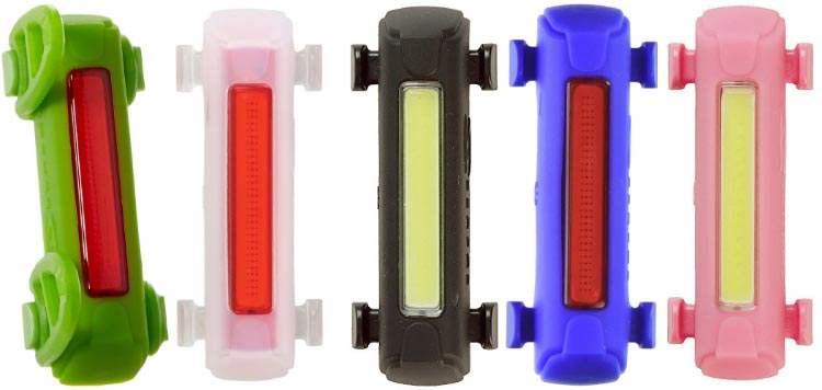 The Serfas Thunderbolt tail light comes in many different colors