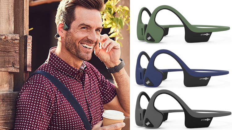 The Aftershokz Trekz Air headphones are available in three great colors