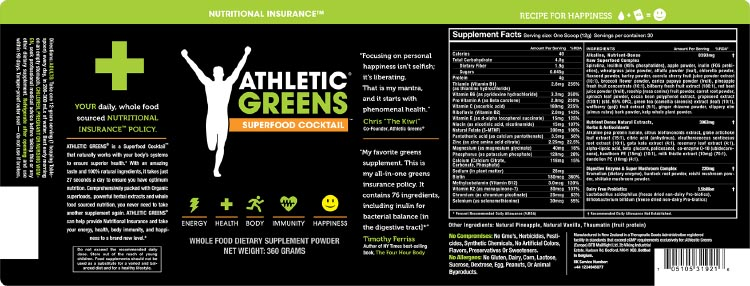 Jump start your bike ride with Athletic Greens. I have carefully examined the ingredients, and I do think Athletic Greens is worth a try for those who want a boost for the spring - or just for their next bike ride!
