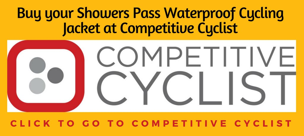 Showers Pass Elite 2.1 Waterproof Cycling Jacket Review. Click to go to Competitive Cyclist
