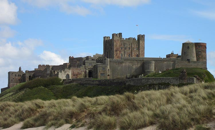Enjoy the splendid view of Bamburgh Castle