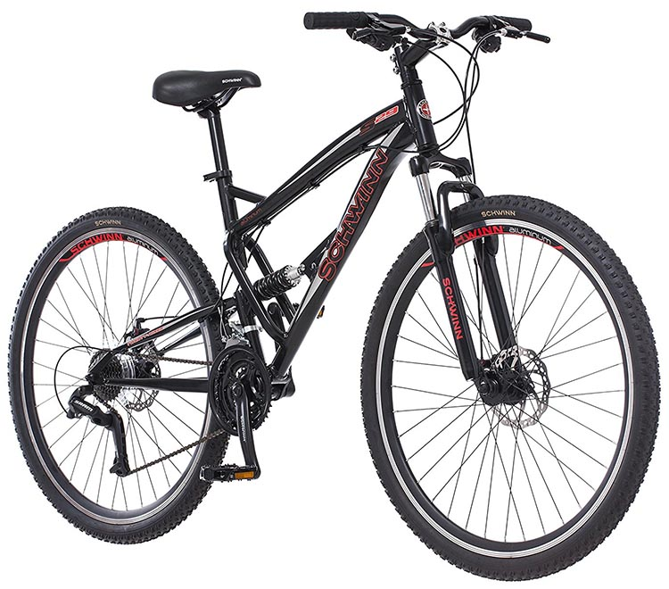 Schwinn S29 Full Suspension Mountain Bike Review. The Schwinn S29 Full Suspension Mountain Bike is an entry-level mountain bike at an affordable price