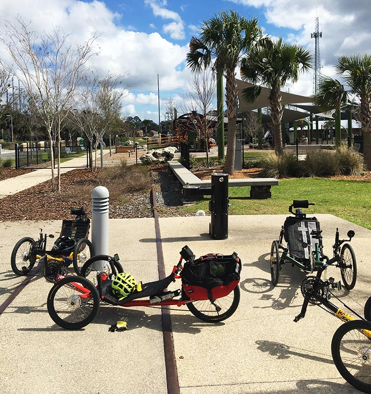 7 Tips for New Recumbent Trike Riders. Group rides can be a lot of fun and a great way to meet new people with similar interests. I took this photo while on a group trike ride in Florida