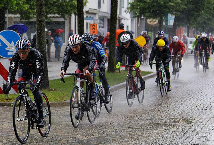 The Art of Biking without Biking: A Guide to Stationary Bikes. Not all of us can be those guys! These are skilled cyclists racing in heavy rain. Many of us would prefer not to be outside on a bike in those kinds of conditions!