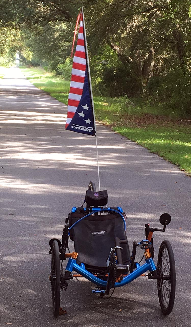 7 Benefits of Recumbent Trikes. My flag helps me to be extremely noticeable and visible to other road users